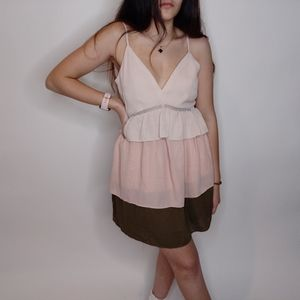 English Factory Multicolored Layered Dress Size S